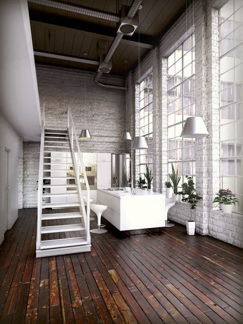 decoracion con plantas verdes estilo industrial interiores tendencias