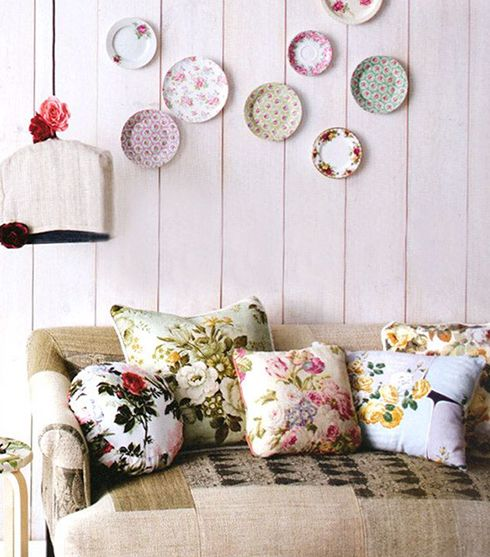 decoracion vintage ideas platos paredes