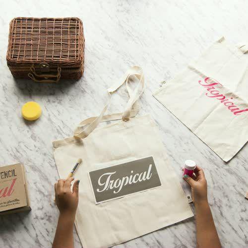 diy stencil letras estampacion kit cajita fabrica de texturas