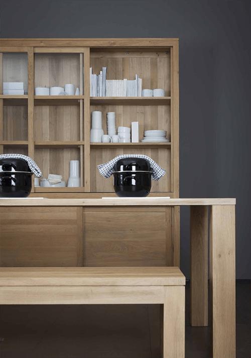 estanteria mesa banco muebles madera mazica diseño sostenible firma ethnicraft