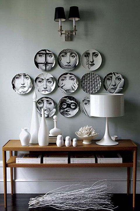 fornasetti ideas decoracion paredes con platos