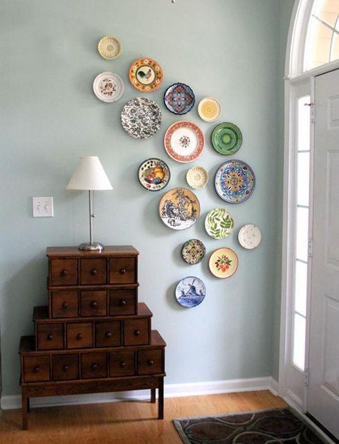 ideas decoracion platos de ceramica paredes hogar