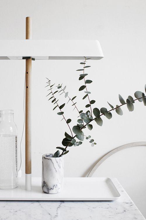 jarron vaso marmol banco gris tendencia decoracion hogar