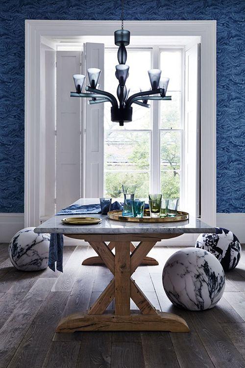 marmol decoracion comedor mesa sillas