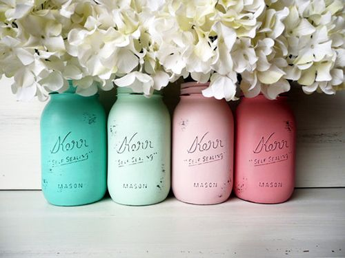 mason jars decoracion diy pintura chalk paint