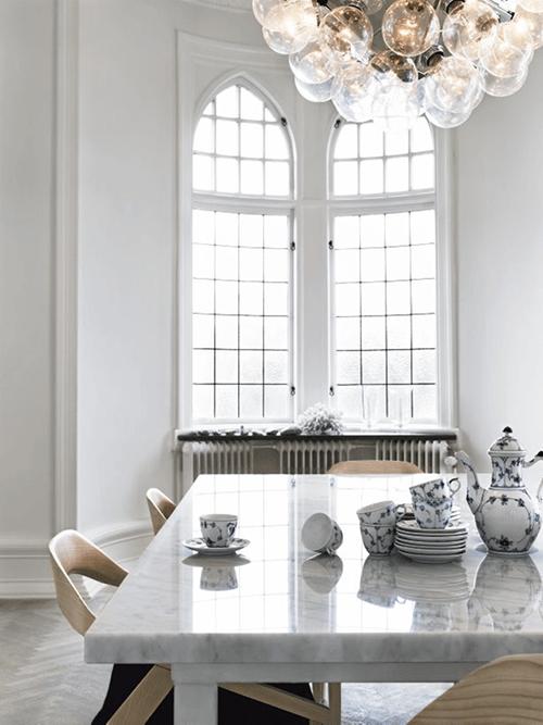 mesa marmol comedor decoracion tendencia
