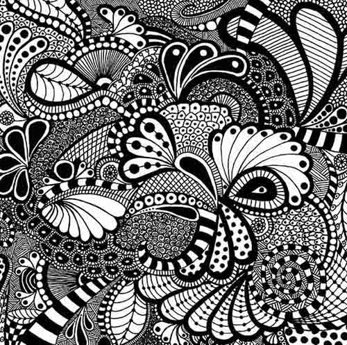 patron dibuji zentangle creatividad emditacion
