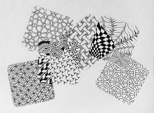 patrones zentangle creatividad meditacion