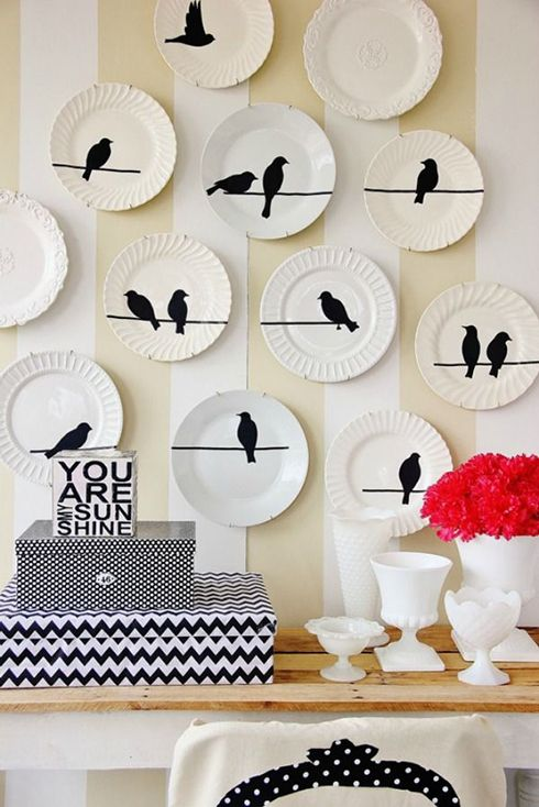platos pajaros diseño decoracion ideas apredes