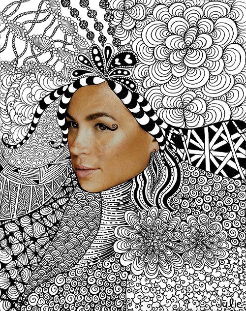 rostro zentangle dibujo creatividad meditacion