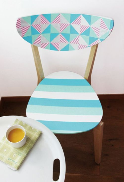 silla decoracion ideas washi tape