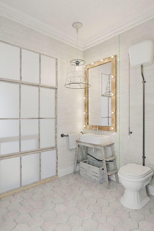 baño apartamento pequeño praga interiorismo estilo industrial