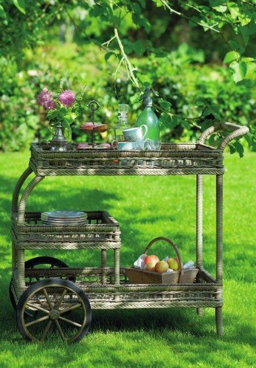 camarera mimbre jardin exterior ideas