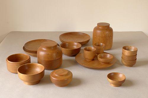 cuencos botes platos madera cerezo david santiago diseño artesanal