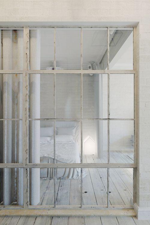 dormitorio apartamento pequeño estilo industrial interiorismo