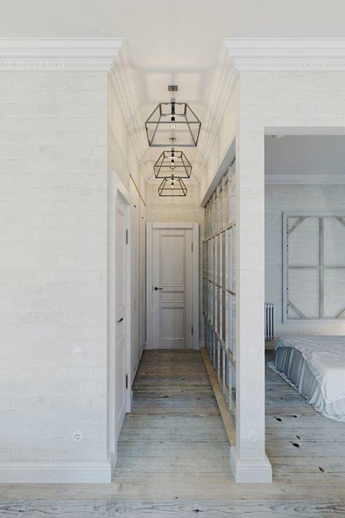 entrada apartamento pequeño praga estilo industrial decoracion
