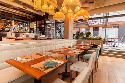 espacio comedor interior restaurantr marieta madrid