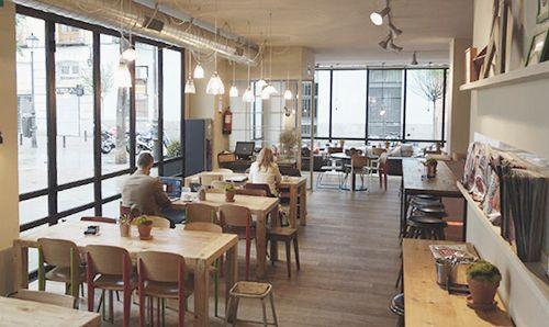 interior cafeteria restaurante bistrot bon vivant chueca