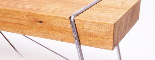 madera acero banco diseño lebrel abellanas