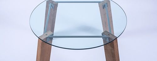 mesa lebrel diseño cristal