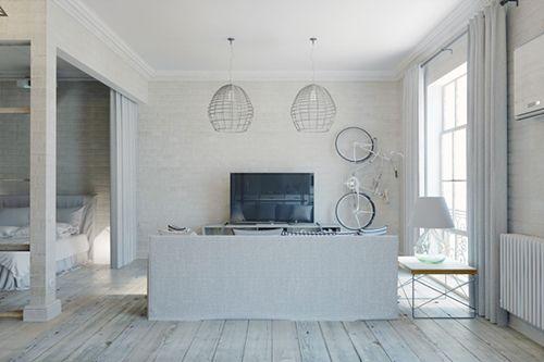 salon apartamento pequeño estilo industrial prag