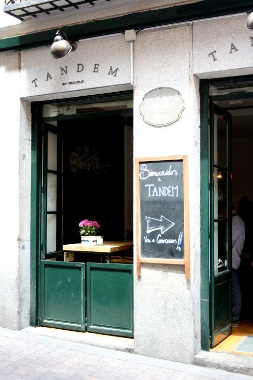tandem exterior fachada restaurante bar madrid