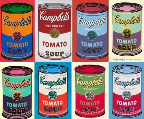 años 60 andy warhol latas sopa