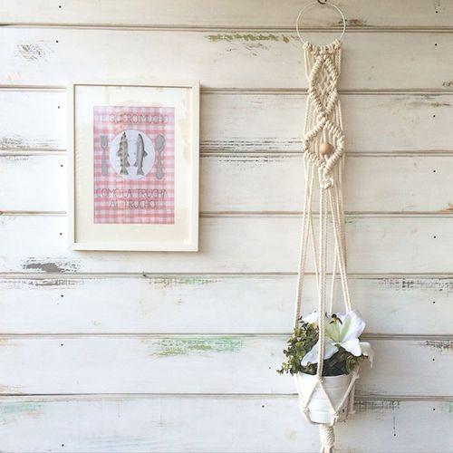 colgado maceta macrame pared decoracion bohemia