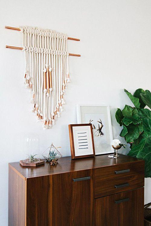 decoracion bohemia adornos colgados macrame