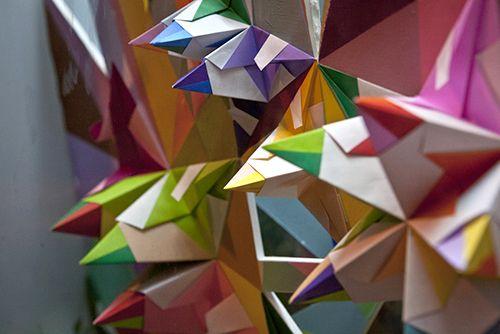 esculturas papel origami arte urbano nuria mora
