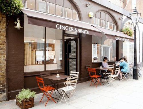 exterior fachada ginger&white cafeteria londres