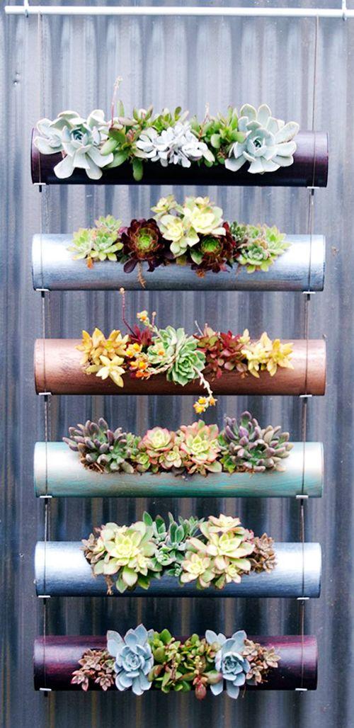 huerto urbano vertical tuberias autocultivo ecologico