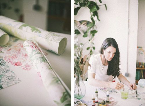 lara costafreda ilustradora colaboracion coordonne papel pintado decoracion