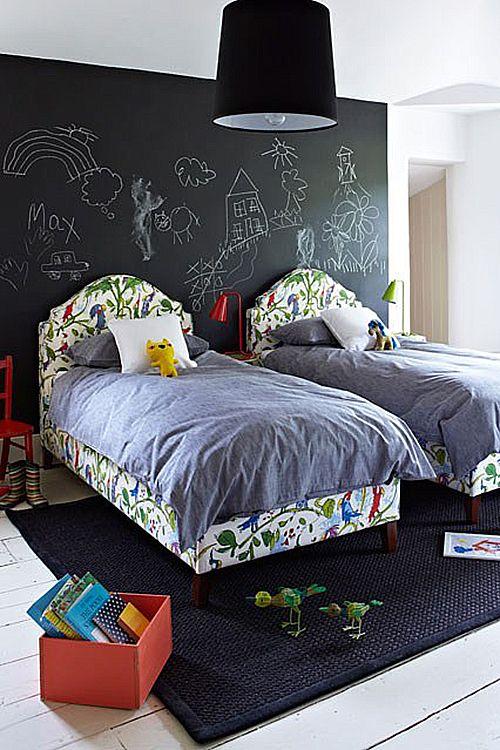 pared tiza ideas decoracion habitacion niños infantiles