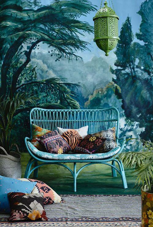 sofa bambu ratan fibras naturales muebles tendecias decoracion