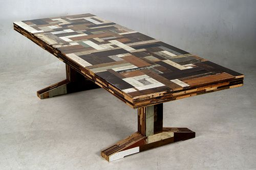 waste-scrapwood mesa reciclada diseño ecologico piet hein eek
