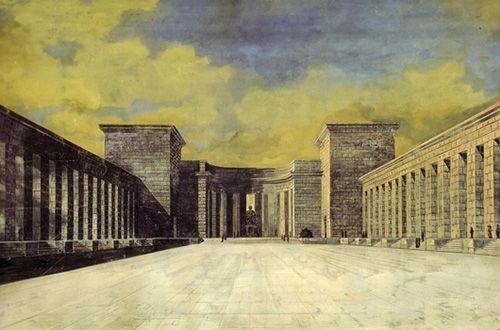 """""""Proyecto para un Monumento a Bismarck"""", Ludwig Mies van der Rohe (1910)"""