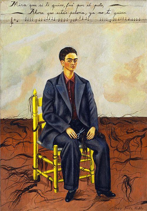 """""""Autorretrato con pelo cortado), Frida Kahlo (1940)"""