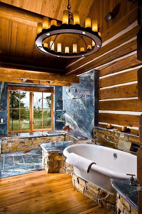 baño cabaña de diseño