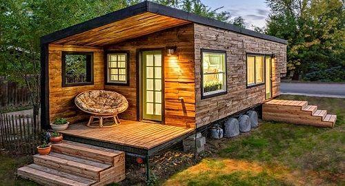 cabaña de madera de diseño