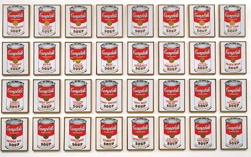 """""""Latas de sopa Campbell"""", Andy Warhol (1962)"""