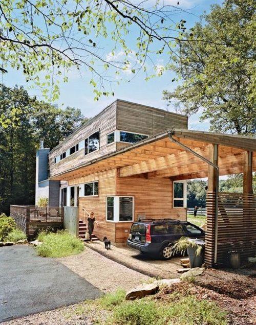 casa prefabricada de madera de diseño