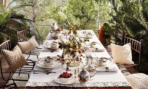 7 claves para decorar tu mesa para comidas al aire libre