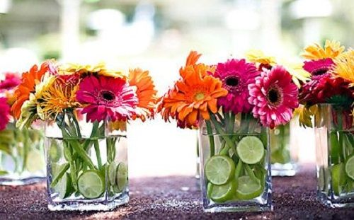 centro de mesa floral