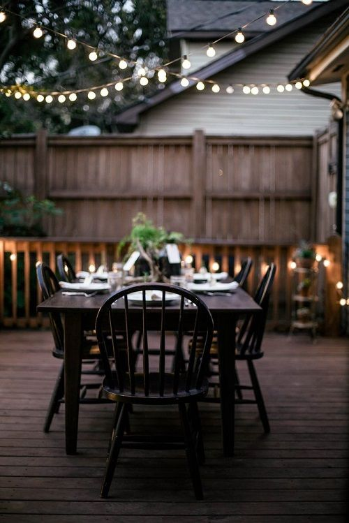 decoracion mesas con luces