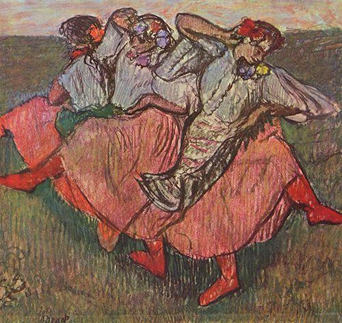 edgar degas tres bailarinas rusas museo nacional de estocolmo