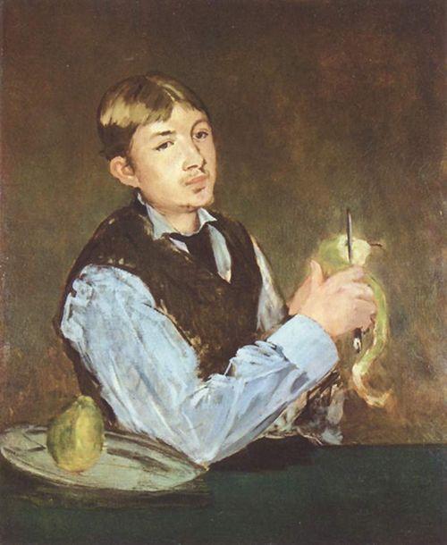 edouard manet joven pelando una pera museo nacional de estocolmo arte suecia