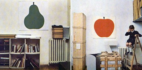 enzo mari laminas decoracion pera manzana pared diseño producto domus