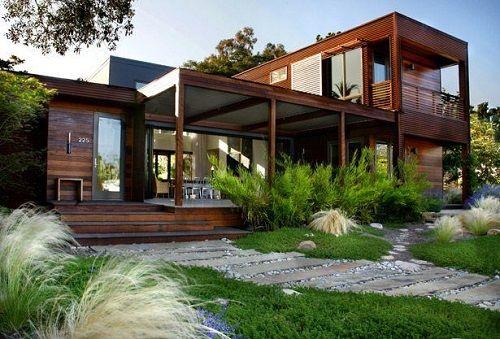 exterior casa prefabricada de lujo