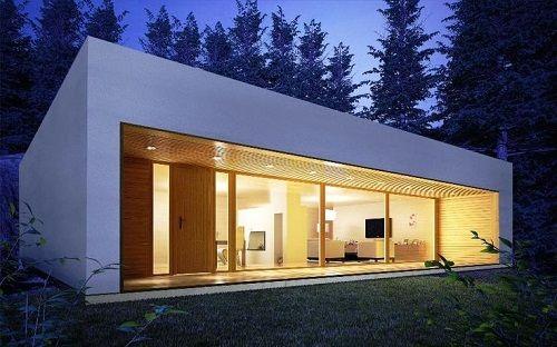 fachada casa prefabricada de diseño